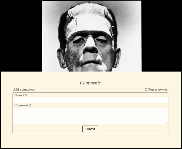 Cover image for The Frankenstein Comment System